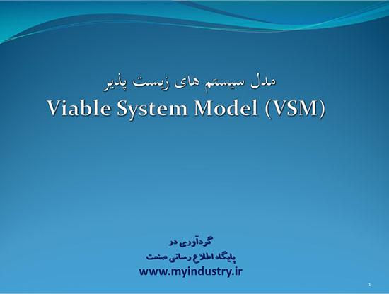 پاورپوینت مدل سیستم های زیست پذیر VSM