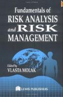 Fundamentals of Risk Analysis and Risk M...