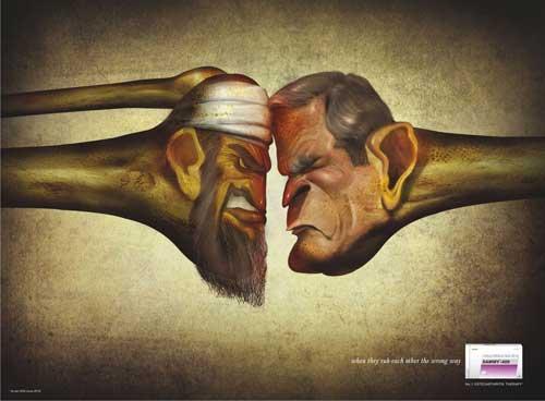 اسامه بن لادن در تبلیغات آمریکایی